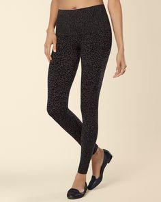 Slimming Legging Luxe Leopard Black