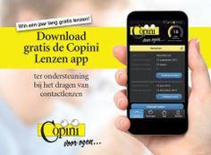 Alle lenzengebruikers kunnen nu gratis gebruik maken van de Copini lenzen app. Maak via de app een afspraak met je lenzenspecialist en ontvang een alert wanneer de lenzen vervangen moeten worden.