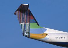 Dash-8, England (Colours down the side) World Art tailfin