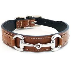 Gucci Poochie Italian Leather Dog Collar - Rich Brown--For the barn dog. Snaffle Bit