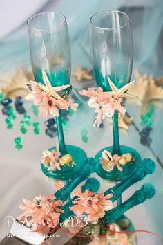 Beach wedding set sea wedding cake server and от DiAmoreDS на Etsy
