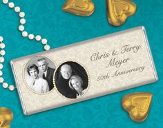 Send Your Parents Personalized Candy Bars to Celebrate their Wedding Anniversary! #whcandy