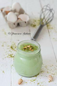 Crema pasticcera con pasta di pistacchio