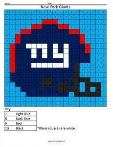 NFC Teams  Math Coloring