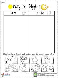 Day And Night Worksheet – Preschoolplanet Kindergarten Math Worksheets, Science Worksheets, Preschool Learning Activities, Kindergarten Science, Worksheets For Kids, Matching Worksheets, Printable Worksheets, Free Printable, Day For Night