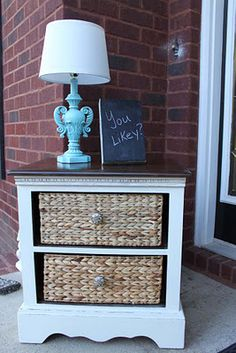 Made from taking out drawers of an old nightstand ...