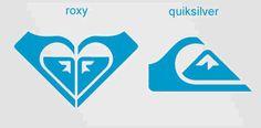 Roxy: el corazón de la marca textil y deportiva es, en realidad la unión de dos logos de la versión masculina de la marca, Quicksilver.