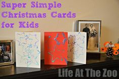 Wonderful card making ideas for kids. There is nothing more special than a homemade card made by a child. Here are some wonderful DIY card ideas for kids! Create Christmas Cards, Simple Christmas Cards, Homemade Christmas Cards, Xmas Cards, Christmas Holidays, Family Christmas, Christmas Presents, Kindergarten Christmas Crafts, Christmas Activities
