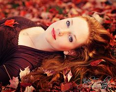 Stunning reds and golds, for a fall / Thanksgiving / November theme teen portrait