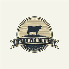 R J Lavercombe - Cattle Farming Logo Cattle farming. Logo Design Services, Custom Logo Design, Custom Logos, Graphic Design, Graphic Tees, Cow Logo, Farm Logo, Kitchen Logo, Agriculture Logo