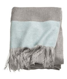 grey aqua blanket throw | H&M