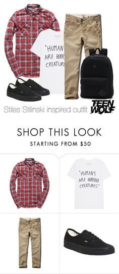 """""""Stiles Stilinski inspired outfit/TW"""" by tvdsarahmichele ❤ liked on Polyvore featuring Superdry, Abercrombie & Fitch and Vans"""
