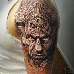 Bora de inspiração? Trampo SINISTRO do @arlotattoos  #usa #inspiration #inspirationtattoo #inspiração #tattoo #tatuagem #realismo #realismotattoo #portrait #portraittattoo #ink #inked #art #artwork #tattoaria #art #arte #artista #tatuadores