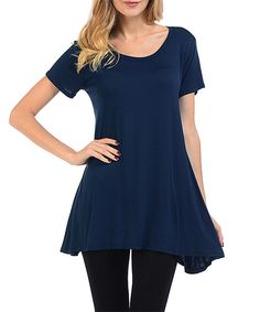 Look at this 42POPS Navy Swing Tunic on #zulily today!