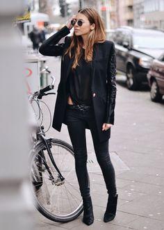 Blazer: Versace . Blouse: Dorothee Schumacher . Pants: Zara . Shoes: Zara . Shades: Ray Ban . Belt: Vintage http://FashionCognoscente.blogspot.com