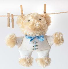 Pluszowy miś teddy bear przytulanka rękodzieło dla dziecka for kids handmade przytulanki