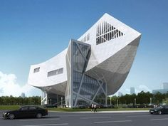 Zhang ZhiDong And Modern Industrial Museum, Daniel Libeskind Daniel Libeskind, Unusual Buildings, Interesting Buildings, Amazing Buildings, A As Architecture, Futuristic Architecture, Contemporary Architecture, Creative Architecture, Architect Design