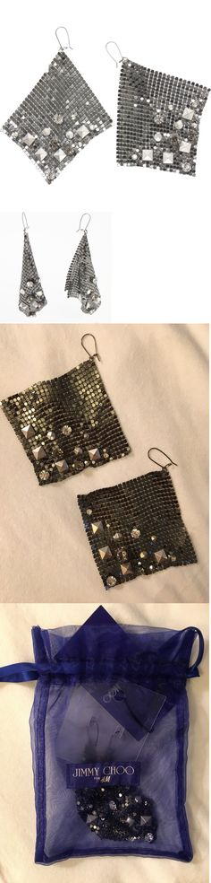 Jewelry Sets 50692: Jimmy Choo For Handm Mesh Earring Nwt -> BUY IT NOW ONLY: $32 on eBay!