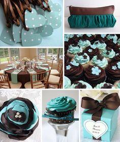 Wedding Garters for Brown and Aqua Blue Wedding Inspiration - The ...