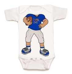 Future Tailgater Memphis Tigers Baby Diaper Cover