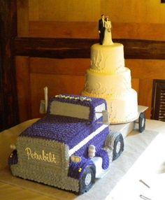Semi Truck, Peterbilt wedding cake