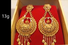 Indian Gold Necklace Designs, Indian Jewelry Earrings, Gold Earrings Designs, Gold Jewellery Design, Jewelry Art, Gold Jewelry, Fashion Jewelry, Earings Gold, Most Expensive Jewelry