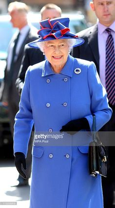 Queen Elizabeth II visits St John's College at the University of Cambridge on…