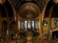 Interior, LCT | St. Michael's Church | New York City Michael Church, Louis Comfort Tiffany, Church News, Mosaics, New York City, Stained Glass, Interior, Indoor, Mosaic