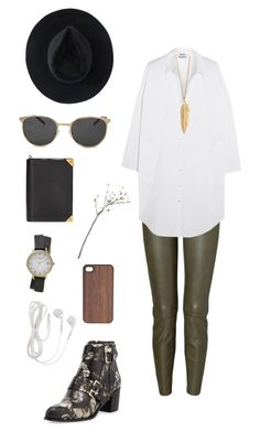 """""""I'm feeling green"""" by lexilex-369 ❤ liked on Polyvore featuring mode, Jitrois, Acne Studios, Jason Wu, Ryan Roche, Alexander Wang, Yves Saint Laurent, Crate and Barrel, Olivia Burton et Wood'd"""
