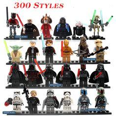24pcs//lot Building Block Starwars Last Jedi Yoda Obi-Wan Darth Storm