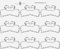 lorax mustache template straws | Next, melt the yellow candy melts according to package directions.