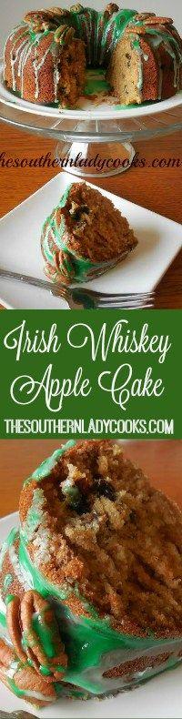 The Southern Lady Cooks Irish Whiskey Apple Cake