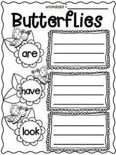 """FREEBIE in the PREVIEW! Insects Writing """"Research"""" Unit ~Informational Text (Non-Fiction) Unit! COMPLETELY UPDATED! Fireflies, Crickets, Honey Bees, Ladybugs, Butterflies, and Click Beetles. :o"""
