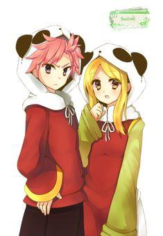 Render Fairy Tail - Renders Natsu Dragneel Lucy Heartfilia Fairy Tail Panda Fanclub Cosplay Dragnir Salamander Blonde Cheveux Roses Pink Hair