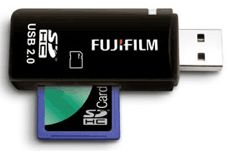 Fuji SD Card USB KEY reader - small neat and easy to carry with the need for a usb cable.  more if available here  http://amzn.to/14Eto4C
