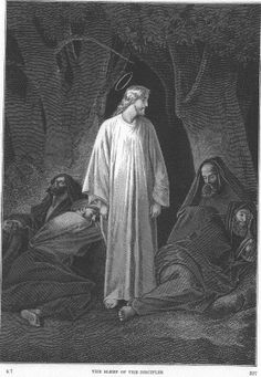 Alexandre Bida - Illustrations of the Life of Christ-The sleep of the disciples
