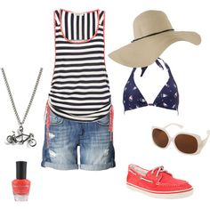 A Day At The Lake, created by desiree72180.polyvore.com