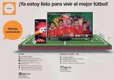 ¿Estáis listos para vivir el mejor fútbol? ⚽️ 📱📺 con +LG España 📅 #Russia2018