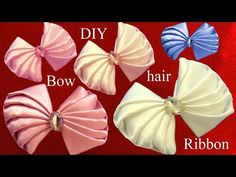Flores blancas white flowers on ribbons en cintas para el cabello - vídeo en HD - YouTube