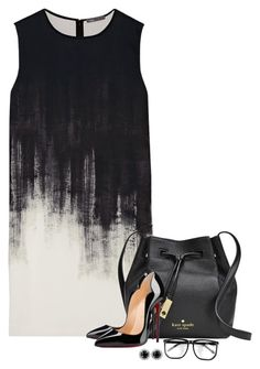 """""""Dynamic Duo"""" by lisa-holt ❤ liked on Polyvore featuring Vince, Kate Spade and Christian Louboutin"""
