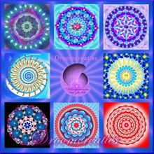 Wishcard set mandala 1  set of 8 cards with by Droomcreaties, €18.00