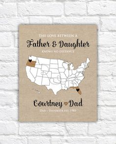 Gift for Dad Father Grandpa Custom Print by WanderingFables Personalized Gifts For Dad, Customized Gifts, Custom Gifts, Birthday Gifts For Grandma, 16x20 Frame, Christmas Gifts, Christmas Ideas, Holiday, Thing 1