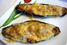 Foto de la receta de berenjenas rellenas de atún y queso