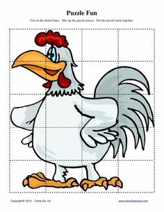 FREE worksheets, create your own worksheets, games. Counting Puzzles, Maze Puzzles, Travel Activities, Activities For Kids, Bird Quotes, Doodle Doo, Farm Theme, Animal Games, Coq