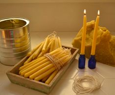 Beeswax Candles DIY! Breathe clean.
