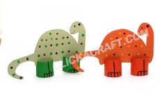 Cardboard Toilet Paper Roll Dinosaurs Craft