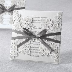 Elegant Lace Wedding Invitation