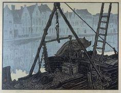 Yoshijiro Urushibara, Bruges, after Frank Brangwyn