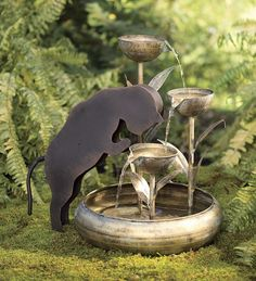 cat themed water feature