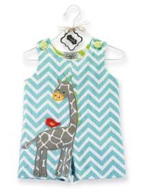Giraffe Shortall by Mud Pie Baby